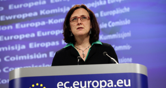 Press conference by Cecilia Malmstrom